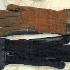RUKAVICE látkové s koženou výztuhou mezi prsty